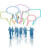 Communication Network Media Business People Talk Colors