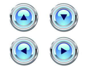 Blue Neon Webdesign Arrows
