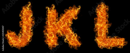 Set of Fire letter J K L