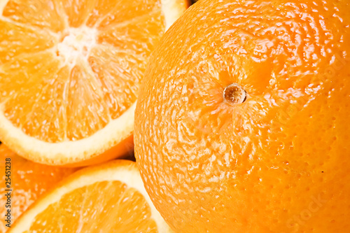 Oranges background.
