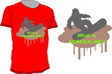 T-shirt vector design with snowboarder - what is adrenaline? poster