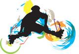 Fototapety Roller skater illustration