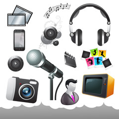 Film and Media Icons and Elements