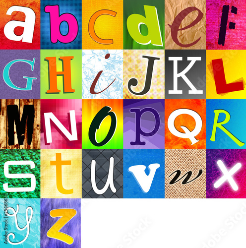 alphabet multicolore
