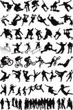 Urban sport & people silhouettes