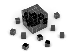 Black cube 3D