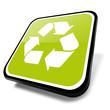 3d button entsorgung, recycling, grün