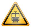 """Hazard Sign """"Danger - Train"""""""