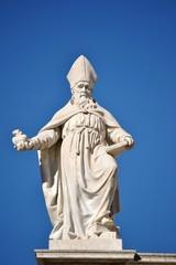 Statua di Sant'Agostino - Basilica Sacro Cuore - Roma - Italia