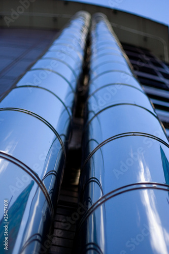 Vertical metal pipes