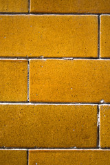 Brown tile brick wall