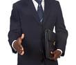 African businessman offering a handshake