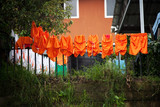 Soccer uniforms drying on the line in Costa Rica
