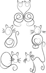 Cats in contour.