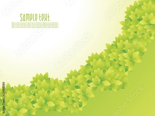 Abstract green nature background with waves