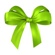 green gift ribbon bow