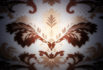 Modern seamless composition in damask baroque style