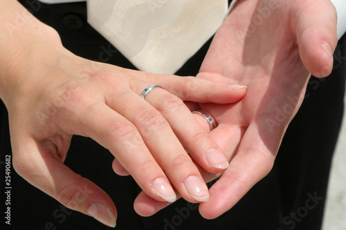 hands of husband and wife