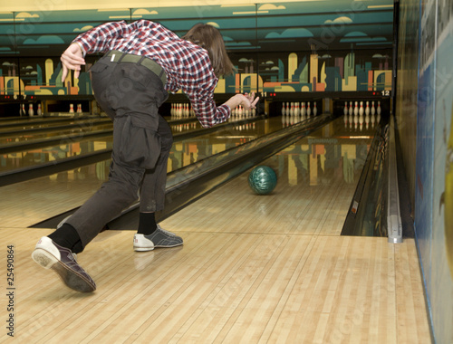 man by bowling