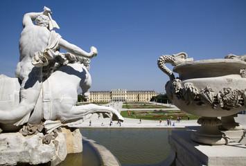Vienna - Schonbrunn palace - Posiedon fountain