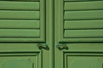 Tür grün, Detail