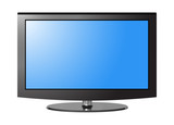 TV flatscreen blue chrome