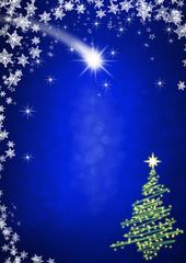 weihnachtlicher Hintergrund blau Hochformat