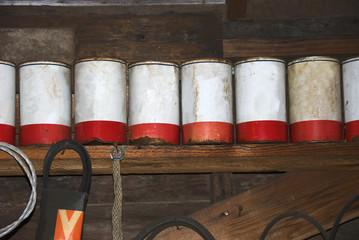 Old Oil Quart Cans