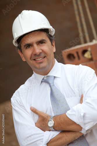 male engineer at a construction site