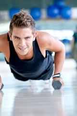 gym man exercising