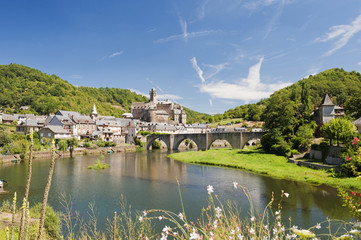 Estaing Village on river Lot in Southern France