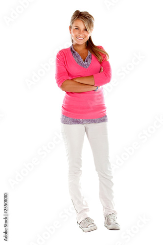 Fullbody casual woman