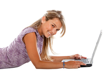 Woman with a laptop
