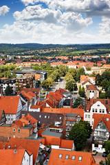 Blick auf Hameln, Niedersachsen/Deutschland