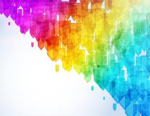 Abstract arrow shapes suuny vector background