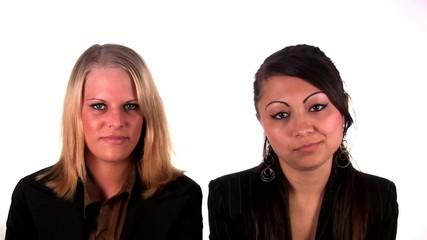 Two women denying (1080i/PAL)