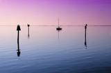 Anchored Sailboat on Tampa Bay, Florida poster