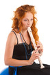 Red-haired flutist