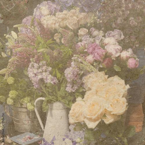 vintage wallpaper background with bouguet of flower © elenarostunova