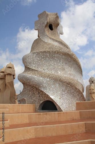 Roof detail of La Pedrera, Barcelona, Spain