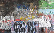 Fototapete Anrufen - Gischt - Graffiti