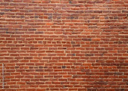 Old red brick wall - 25511049