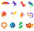 Modern colorfull symbols for your design