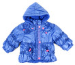 Blue baby jacket insulated