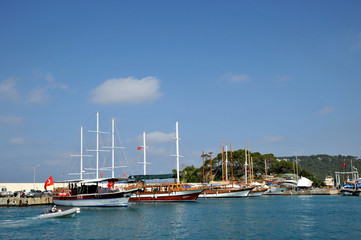 Kemer Marina con caicco - Turchia
