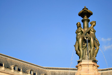 la fontaine des trois grâces à Bordeaux