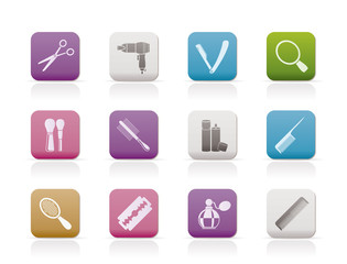 cosmetic, make up and hairdressing icons