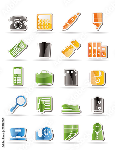 Simple Office tools Icons vector icon set 3