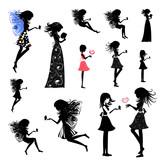 Fototapety girl fairy set