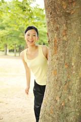 公園 ポートレート 女性